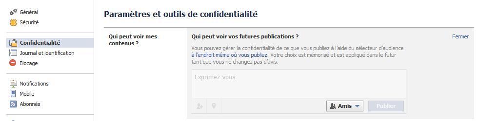 restreindre publications facebook