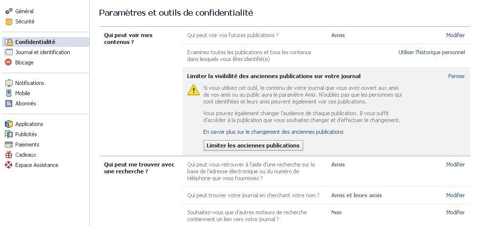 Fermer son profil facebook