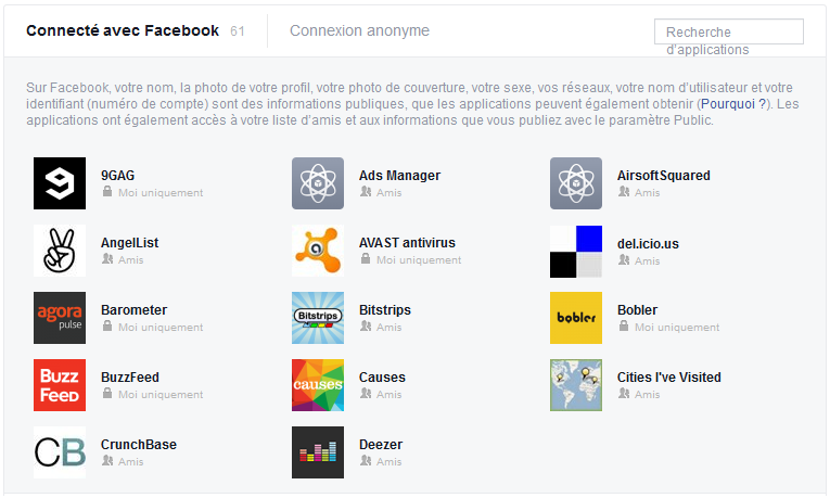 limiter applications facebook