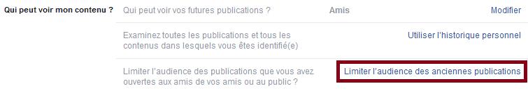 limiter visibilité publications facebook