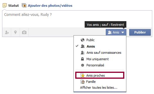 publication restreinte facebook