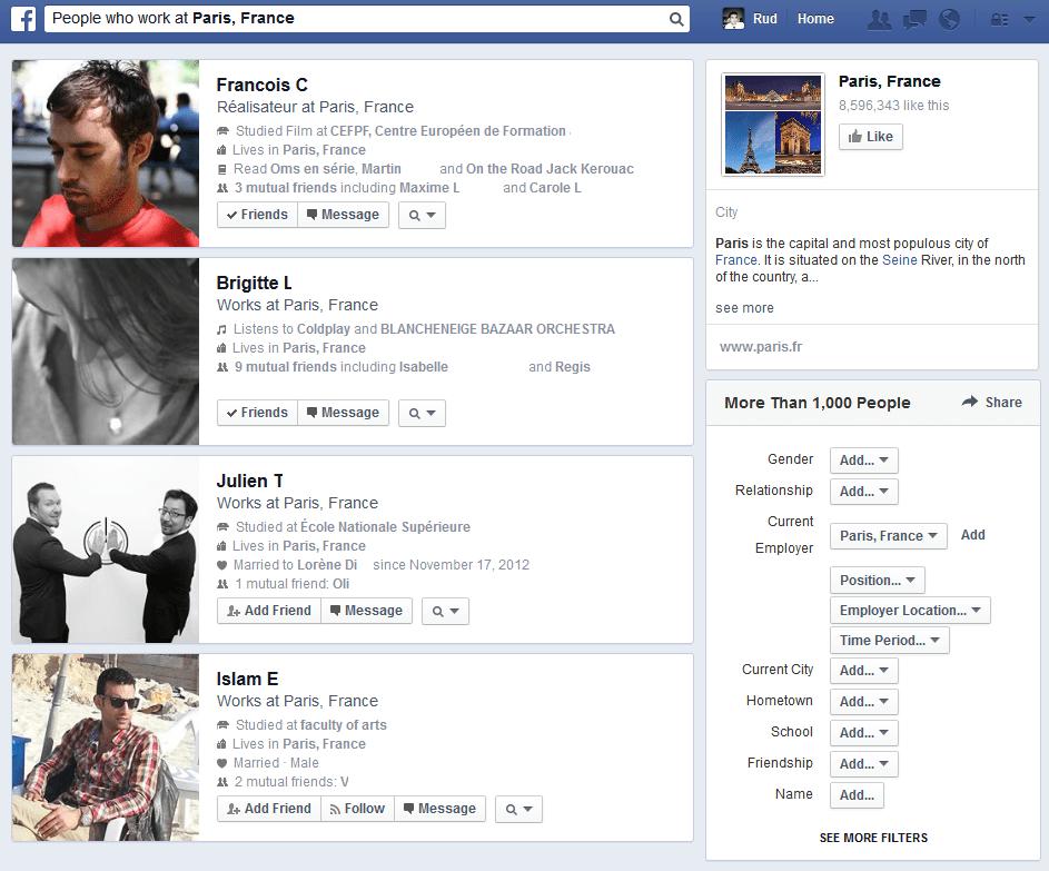 moteur de recherche de personnes