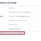 telecharger donnees facebook