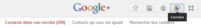 rechercher contacts google plus