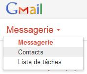 Importer contacts dans Gmail