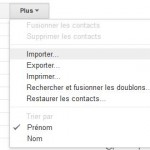 Gmail importer exporter contacts emails