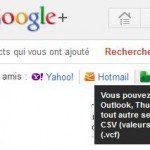 Importer contacts dans Google +