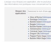 bloquer application facebook