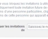bloquer invitations application facebook