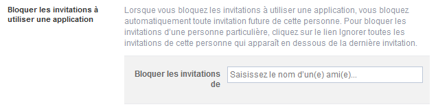 bloquer invitations application facebook