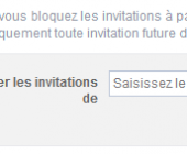 bloquer invitations evenement facebook