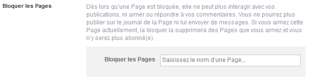 bloquer page facebook