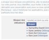 bloquer une personne sur ffacebook