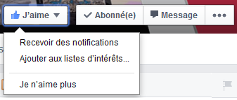 desabonner page facebook