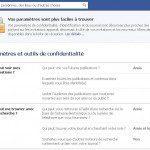 paramètres de confidentialité facebook