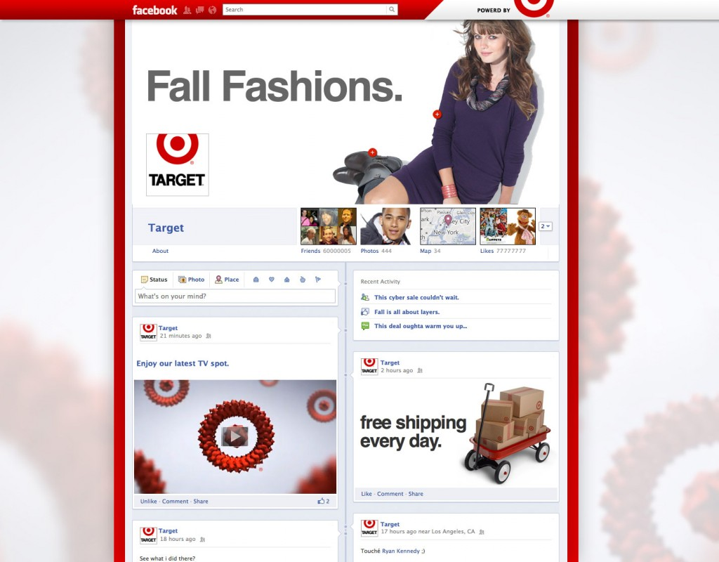 facebook timeline target fanpage marques