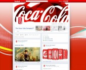 Timeline de fanpage Facebook Coca Cola