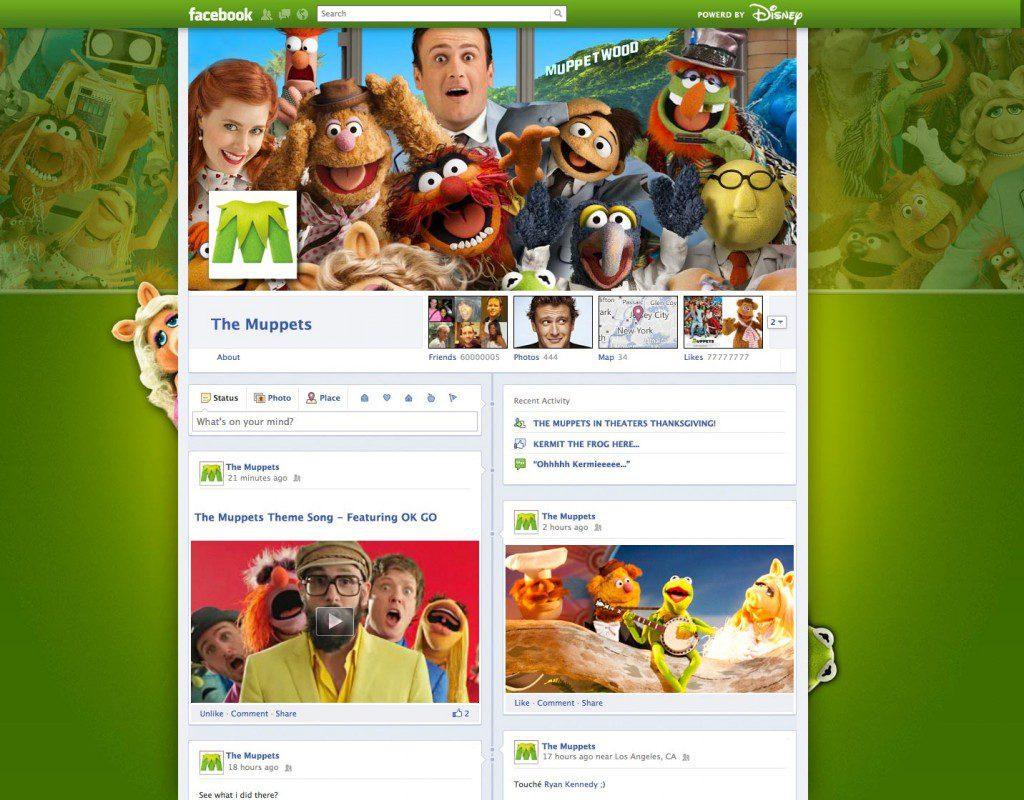 facebook timeline muppets fanpage