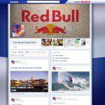 Timeline de fanpage Red Bull Facebook
