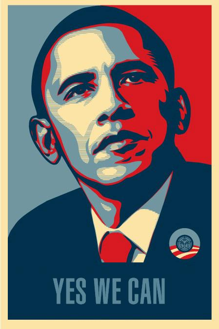Shepard Fairey obama yes we can marketing buzz