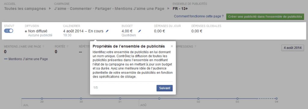 gérer publicités facebook