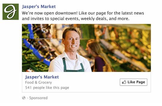 publicitié page like facebook