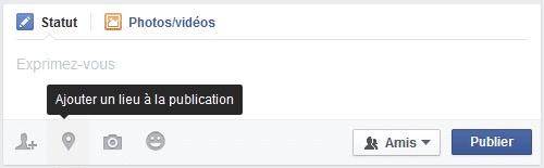 indication de lieu facebook
