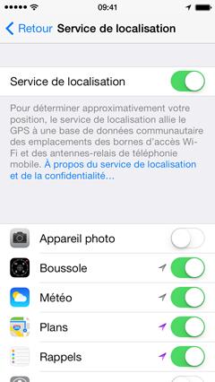 localisation facebook iphone