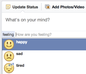 partager ses émotions sur facebook
