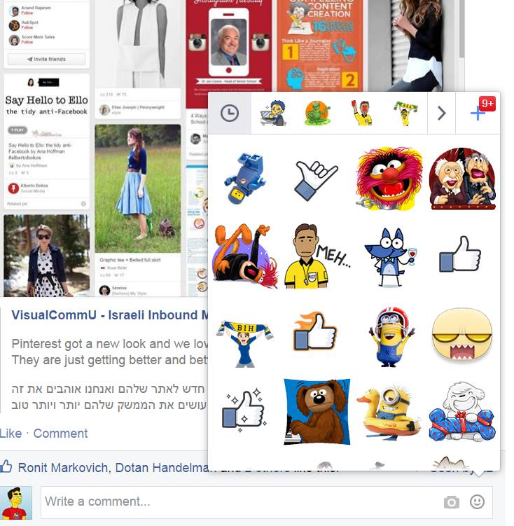 stickers facebook