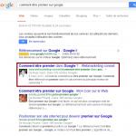 comment être premier sur google