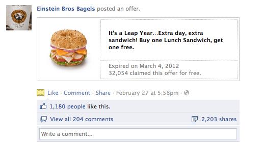 coupons facebook buzz