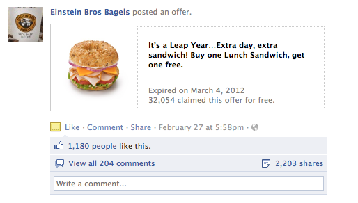 coupons facebook buzz
