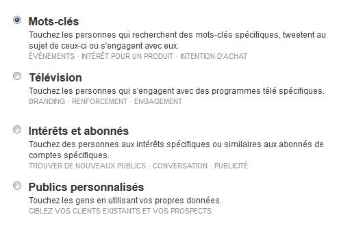 ciblage tweets sponsorisésciblage tweets sponsorisés