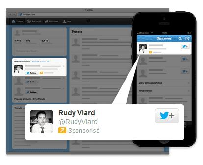 comptes sponsorisés Twitter