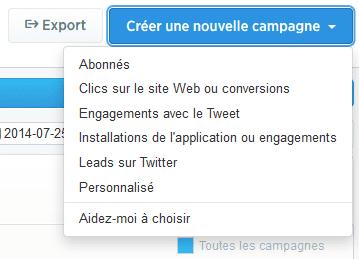 créer une campagne twitter