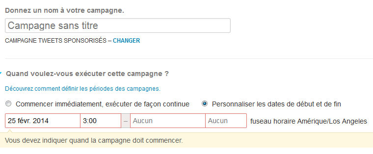 planifier mes campagnes twitter