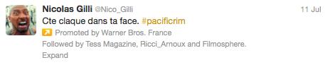 tweet sponsorisé warner pacific rim