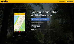 Bobler réseau social vocal localisé sur une carte