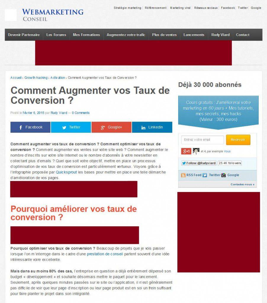 publicité sur les blogs