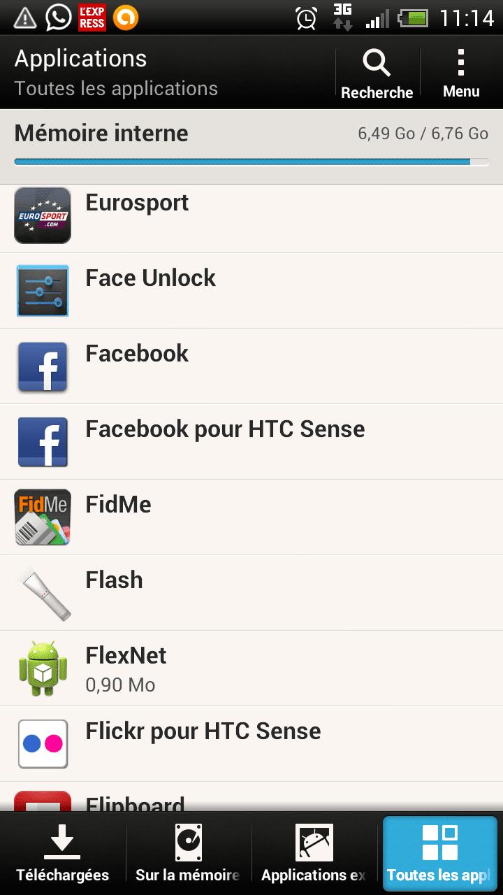 désinstaller facebook mobile