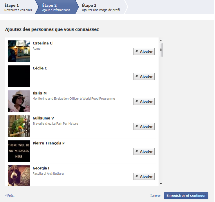 ajouter des amis facebook