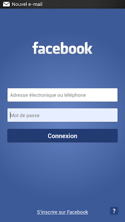 inscription facebook mobile