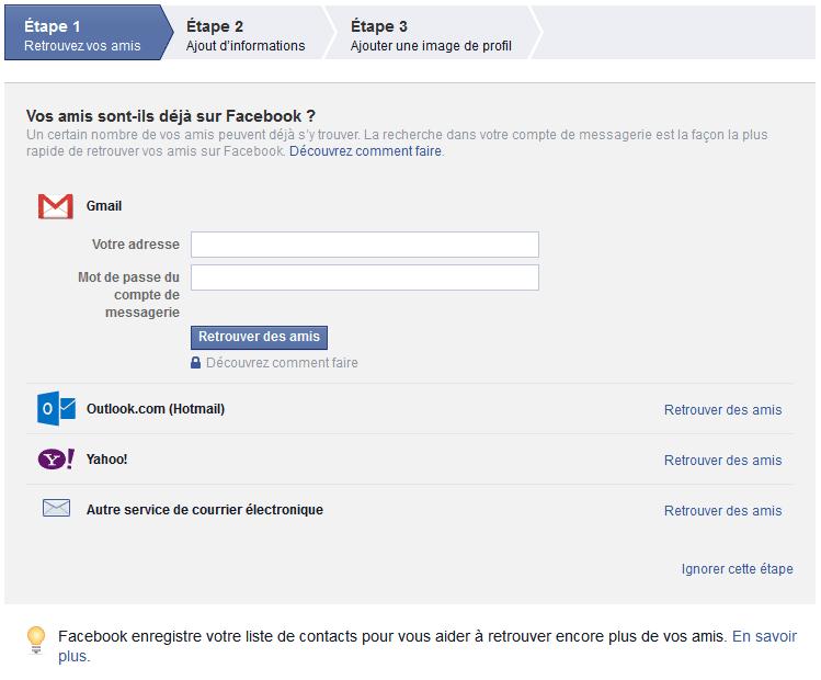 Comment s'inscrire sur Facebook ? Comment procéder à votre inscription Facebook ? Comme créer un compte Facebook ?