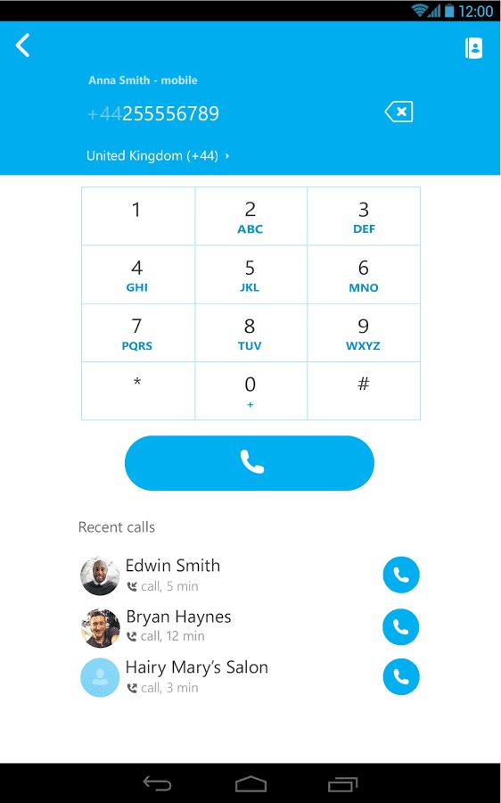sms gratuit skype