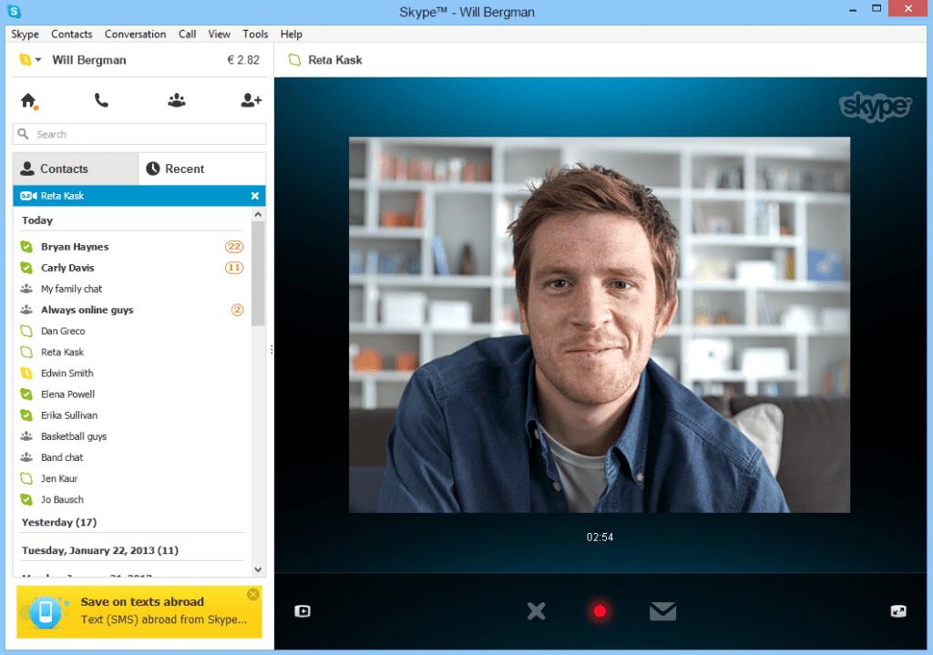 téléphoner avec skype