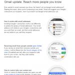 gmail inclus les contacts Google plut dans le carnet d'adresses