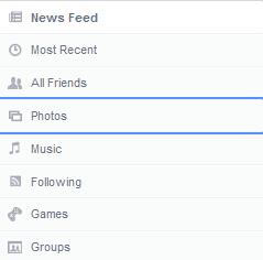 menu droite facebook