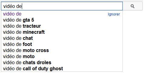 moteur de recherche youtube