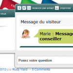 pop-up de chat